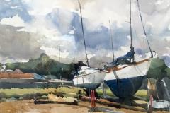 Boatyard, Pin Mill Suffolk